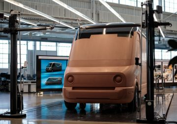Amazon's Rivian electric delivery van taking shape